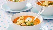 Snabb gazpacho med krutonger
