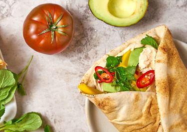 Wrap med harissa och mango