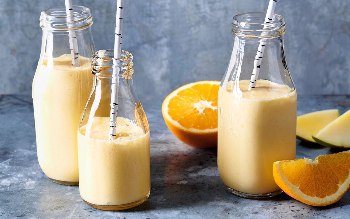Mangomjölk med apelsin