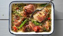 Kyckling med parmaskinka och balsamsås