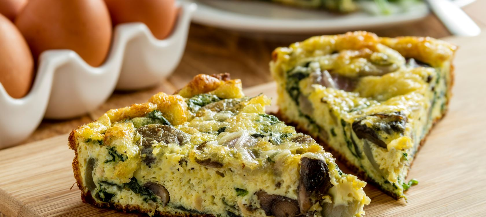 Cheese and Mushroom Frittatas