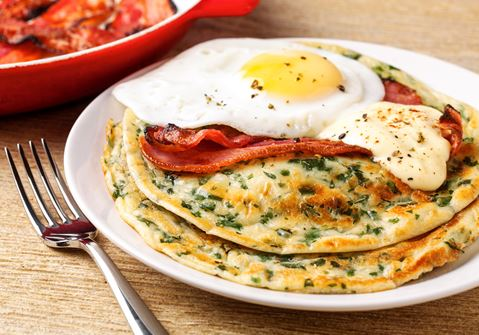Lactofree Spinach Pancakes