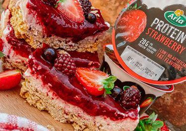 Gluten Free Berry Yoghurt Bars