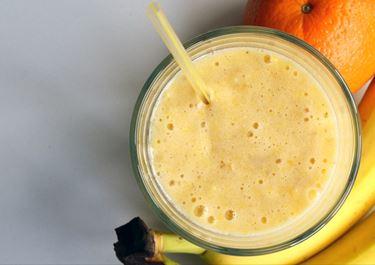 Banana Smoothie with Orange