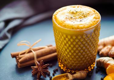Gold Milk with Oats and Ginger