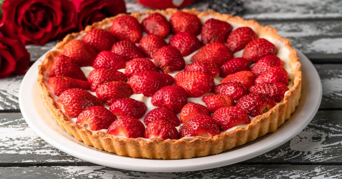 Strawberry Pie Recipe Arla Uk