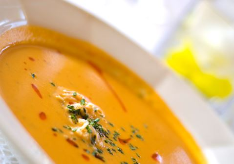 Butternut and Red Pepper Soup