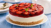 Strawberry Cheesecake with Lime