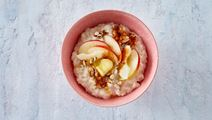 Christmas Rice Pudding with Fresh Apple and Almonds