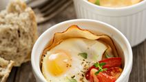 Baked Eggs With Smoked Ham
