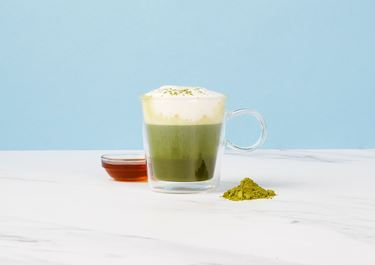 Matcha Latte with Maple Syrup