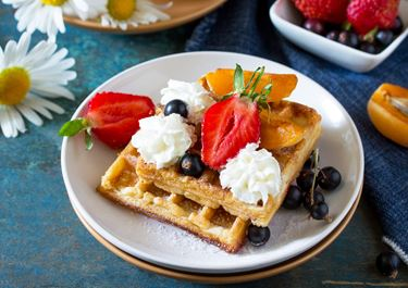 Gluten-free Waffles with Cottage Cheese