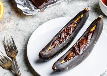 Chocolate Baked Bananas