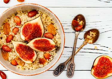 Buckwheat Porridge with Golden Milk and Figs