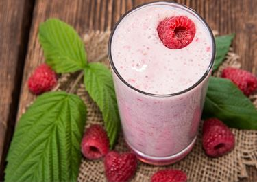 Raspberry Smoothie With Cottage Cheese