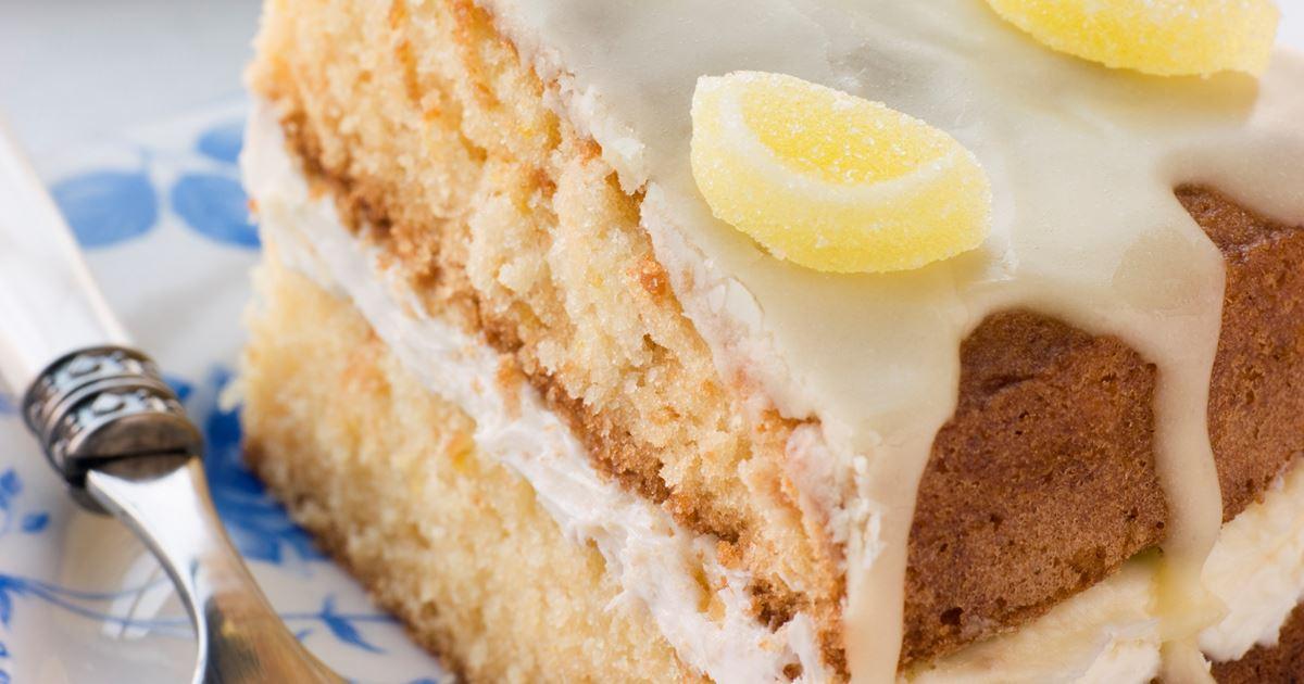 Egg Free Lemon Drizzle Cake Recipe
