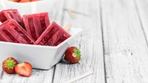 Strawberry Ice Lollies Ice Cream