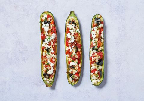 Cheesy Courgette Boats