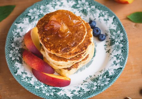 Oat and Apple Pancakes