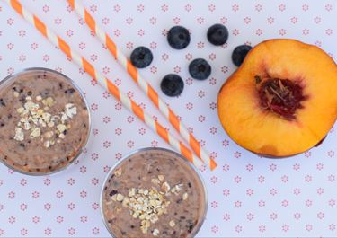Blueberry and Peach Smoothie
