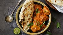 Butter Chicken with Banana Raita