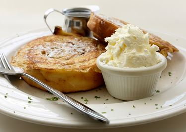 French Toast with Fruity Cottage Cheese