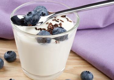 Milk Drink with Blueberries and Chocolate