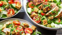Chicken Salad with Mixed Salad Leaves