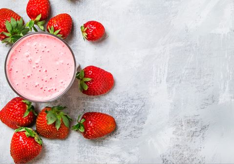 Baobab Milk with Strawberries