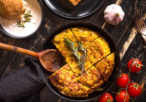 Smoked Mackerel with Frittata