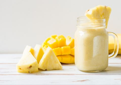 Coconut Smoothie with Mango, Pineapple, and Passion