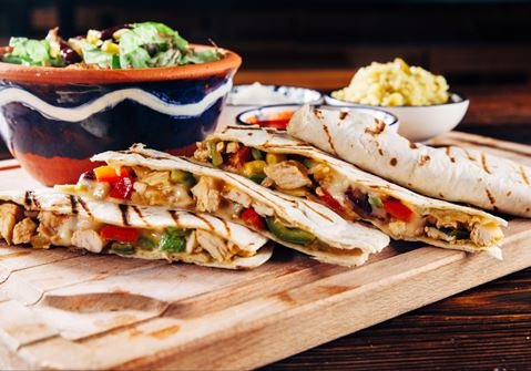 Quesadillas with Smoked Turkey