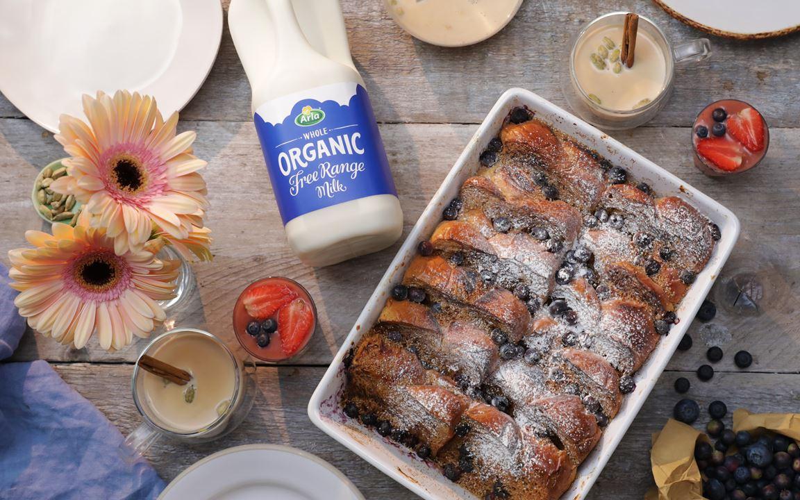 Blueberry Cardamom French Toast Bake