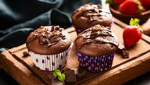 Filled Chocolate Muffins