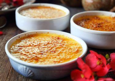 Crème brûlée with taste of coffee