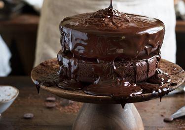 Chocolate Fudge Cake with Sprinkles