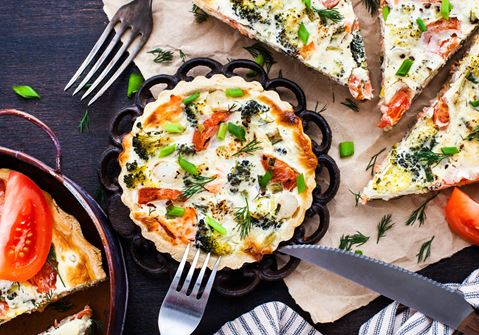 Baby Leek and Tomato Cheese Quiche