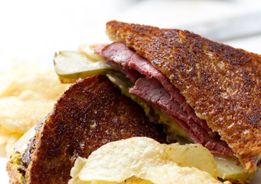 Grilled Pastrami and Cheese Sandwich