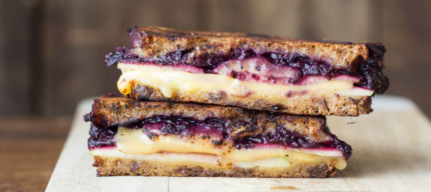 Blueberry, Apple & Balsamic Grilled Gouda