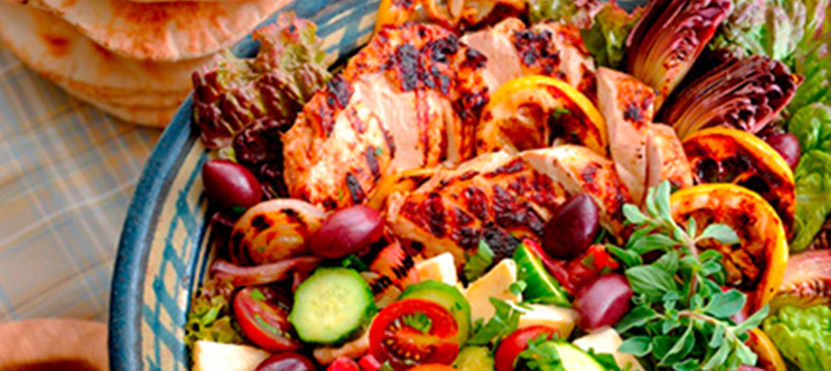 Grilled Lemon Chicken with Greek Salad