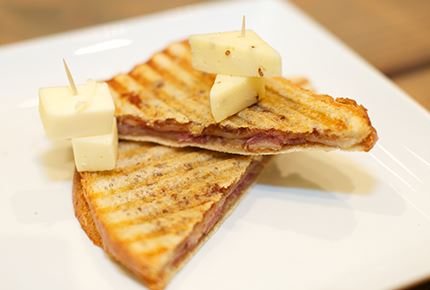 Havarti Prosciutto and Fig Grilled Cheese