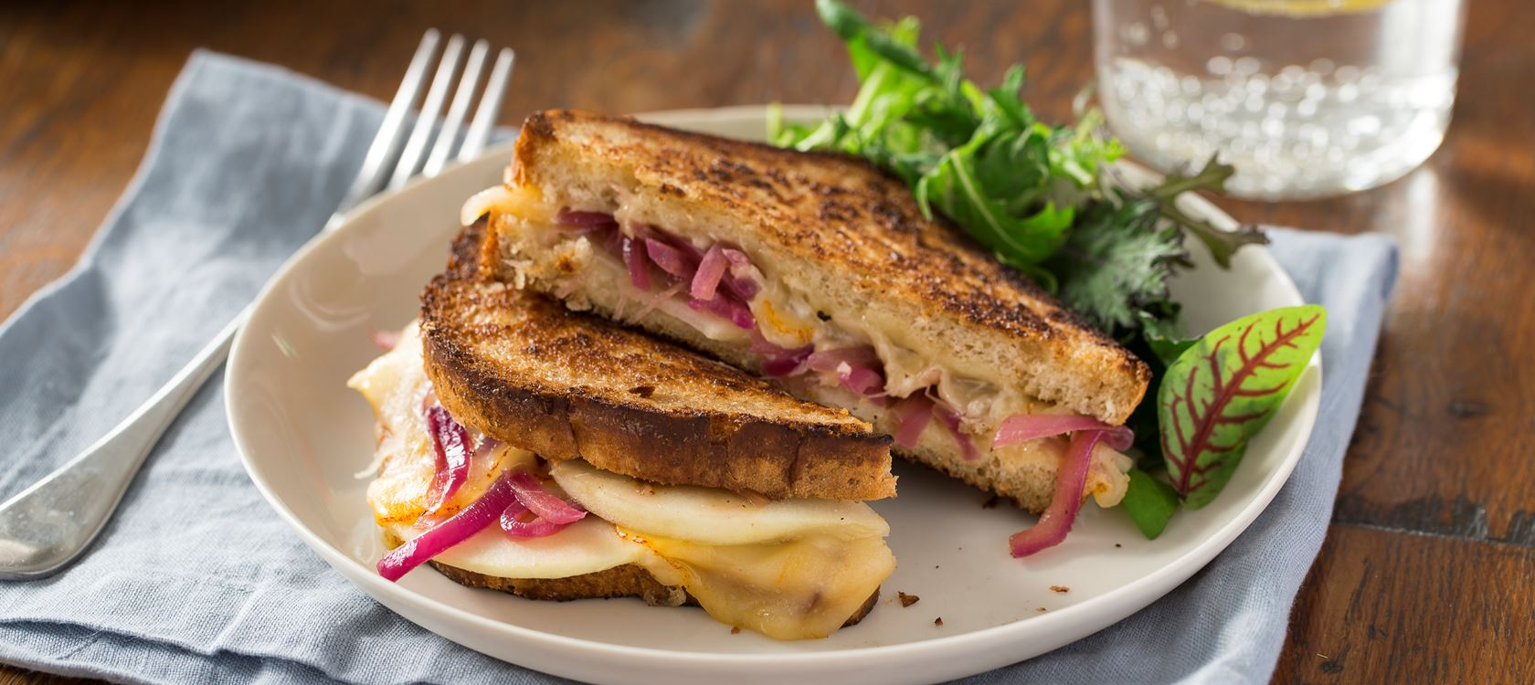 Balsamic Onion and Pear Grilled Cheese
