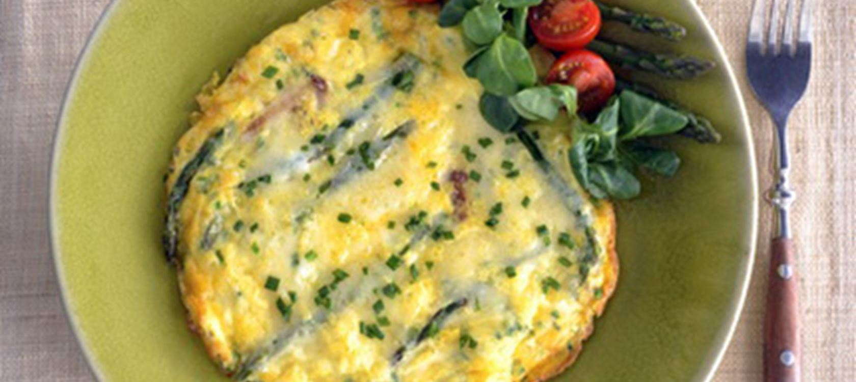 Asparagus Omelet with Havarti & Herbs