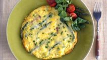 Asparagus Omelet with Havarti & Herbs