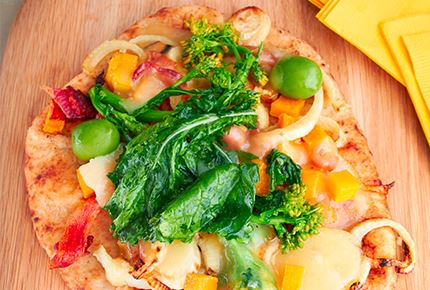 Fall Vegetable Havarti Flatbread