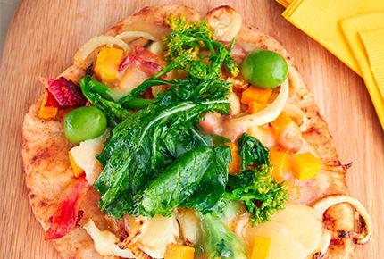 Fall Vegetable Havarti Flatbread