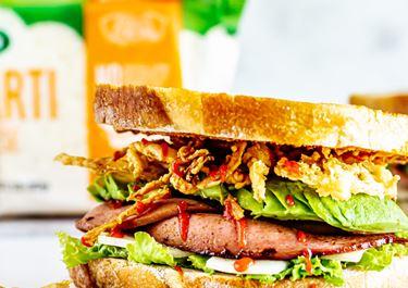 Fancy Fried Bologna Sandwich