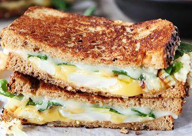 Roasted Cauliflower Havarti and Gouda Grilled Cheese