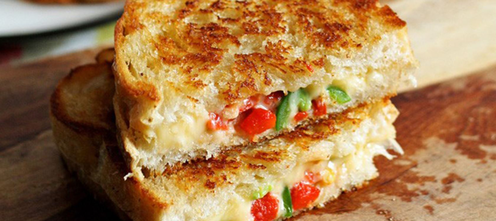 Gouda Jalapeño Roasted Red Pepper Grilled Cheese