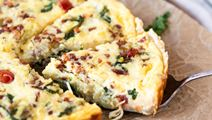 Pancetta Quiche with Havarti & Gouda